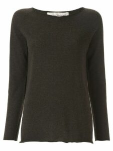 Lamberto Losani scoop neck jumper - Brown