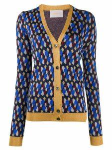 La Doublej metallic patterned cardigan - Blue