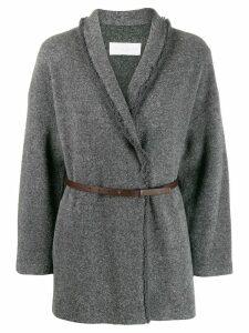 Fabiana Filippi belted cardi-jacket - Grey