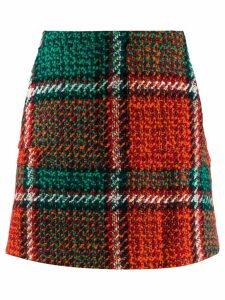 La Doublej checked mini skirt - Orange