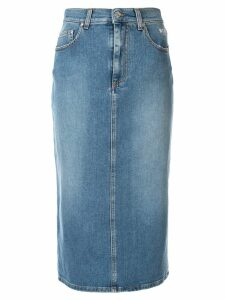 MSGM midi denim skirt - Blue