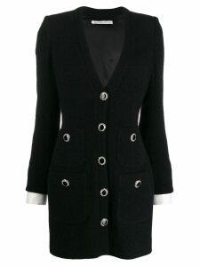 Alessandra Rich short tweed style dress - Black