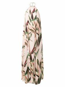 Osklen printed halterneck dress - Multicolour