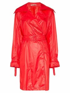 Samuel Gui Yang Brigitte belted trench coat - Red