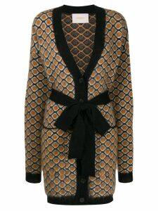La Doublej geometric cardi-coat - Yellow