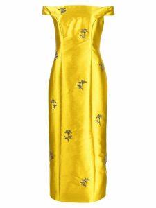 Erdem embellished long dress - Yellow
