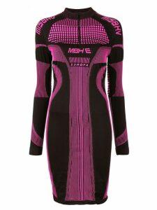 Misbhv logo print fitted dress - Pink
