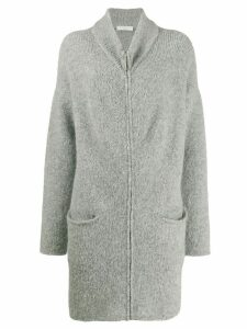 Fabiana Filippi fitted knit coat - Grey