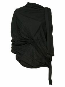 Yohji Yamamoto asymmetric pleated top - Black