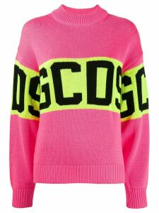 Gcds Knitted logo sweater - Pink
