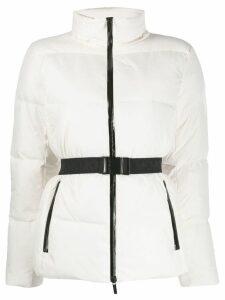 Michael Michael Kors adjustable belt coat - White