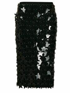 Paco Rabanne star pailette skirt - Black