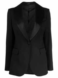 P.A.R.O.S.H. satin-trimmed blazer - Black