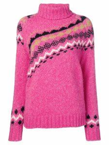 Derek Lam 10 Crosby diagonal fair isle sweater - Pink