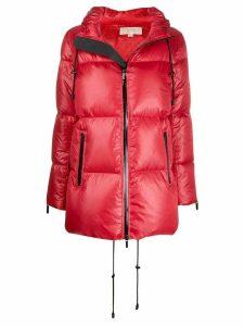 Michael Michael Kors zipped padded coat - Red