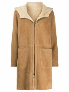 Salvatore Santoro shearling lined coat - Neutrals