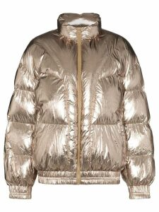 Isabel Marant Étoile Kresten zip-up puffer coat - Metallic