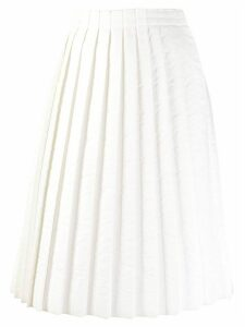 Mm6 Maison Margiela pleated midi skirt - White