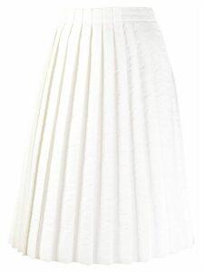 Mm6 Maison Margiela pleated midi skirt - White