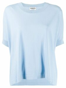 Essentiel Antwerp short-sleeve knit top - Blue