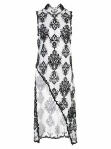 Victoria Hayes floral print asymmetric blouse - White