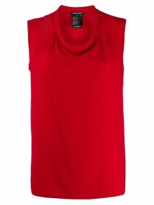 Ann Demeulemeester round neck tank top - Red