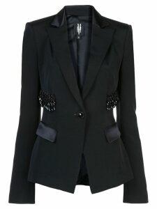 Victoria Hayes bead-embellished blazer - Black