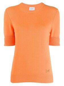 Barrie round neck cashmere jumper - 479Fluo Orange