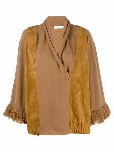 Fabiana Filippi fringed cardi-coat - Brown
