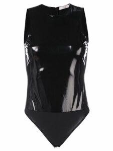 Tibi Tech patent bodysuit - Black