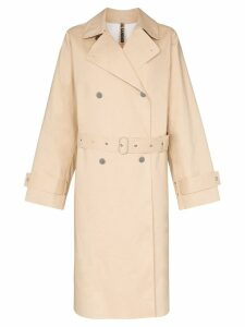 Jil Sander double-breasted trench coat - Neutrals