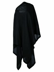 Yohji Yamamoto off-shoulder cloak dress - Black