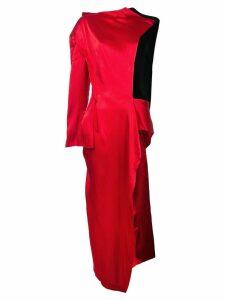 Yohji Yamamoto wrapped stole coat - Red