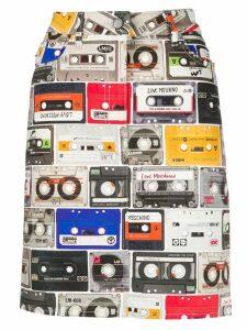 Love Moschino cassette print skirt - Black