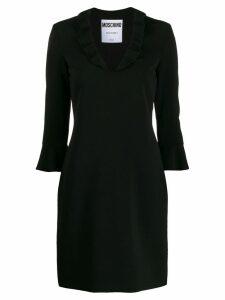 Moschino ruffled neck mini dress - Black