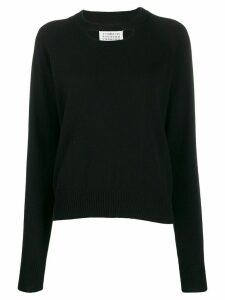 Maison Margiela cashmere chest cut-out sweater - Black