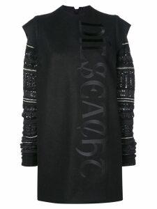 Vera Wang fair isle knit sleeve dress - Black