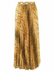 Andamane snakeskin print pleated skirt - Yellow