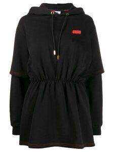 Gcds hooded sweat dress - Black
