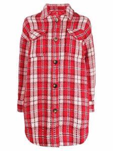 Essentiel Antwerp Trekkie plaid shirt jacket - Red