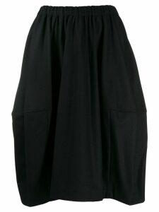Comme Des Garçons Comme Des Garçons panelled midi skirt - Black
