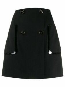 Fendi wrap mini skirt - Black