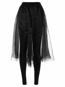 Shanshan Ruan organza skirt - Black