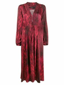 Andamane snakeskin print midi dress - Red