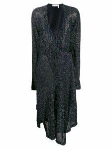 Chloé Lurex wrap dress - Blue