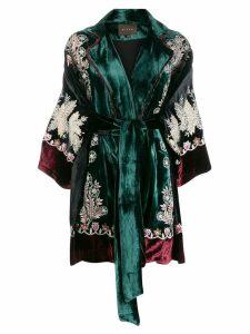 Biyan embroidered kimono coat - Green
