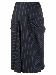 Alexander McQueen ruched midi skirt - Blue