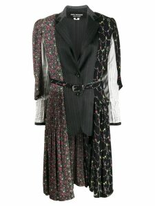 Junya Watanabe floral panel oversized blazer - Black