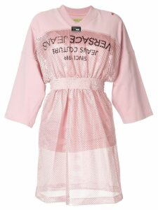 Versace Jeans Couture sporty mesh-panel dress - Pink