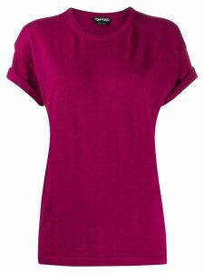 Tom Ford knitted roll sleeves T-shirt - Pink
